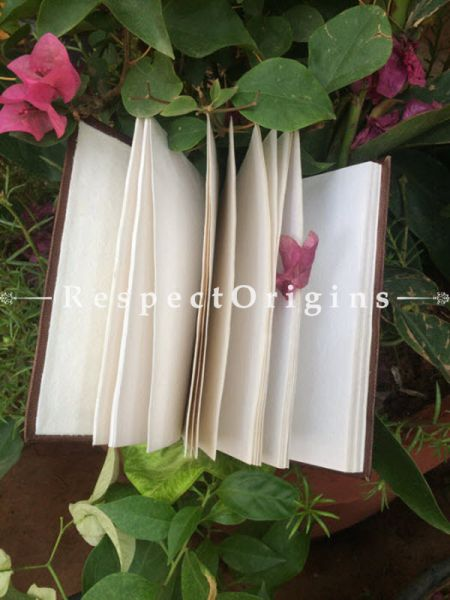Buy Brown Hand Punched Rajasthani Leather Diary At RespectOrigins.com