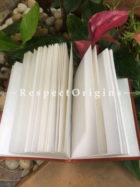 Buy Brown Rajasthani Floral Hand Punched Leather Diary At RespectOrigins.com