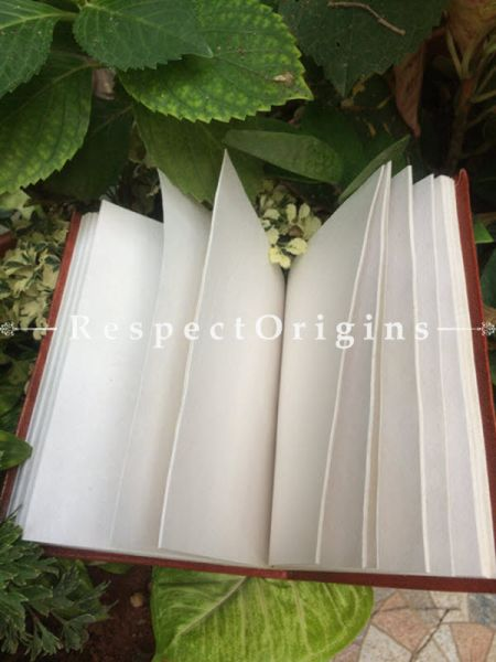 Buy Brown Rajasthani Hand Punched Leather Diary At RespectOrigins.com