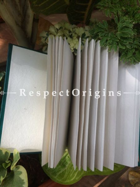Buy Green Rajasthani Leather Diary At RespectOrigins.com