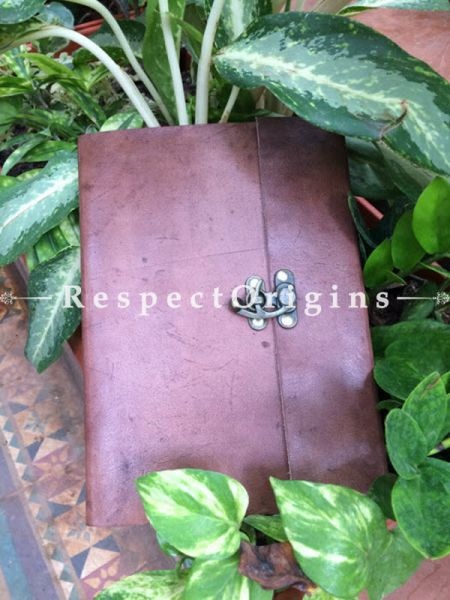 Buy Rajasthani Brown Leather Diary with Lock At RespectOrigins.com