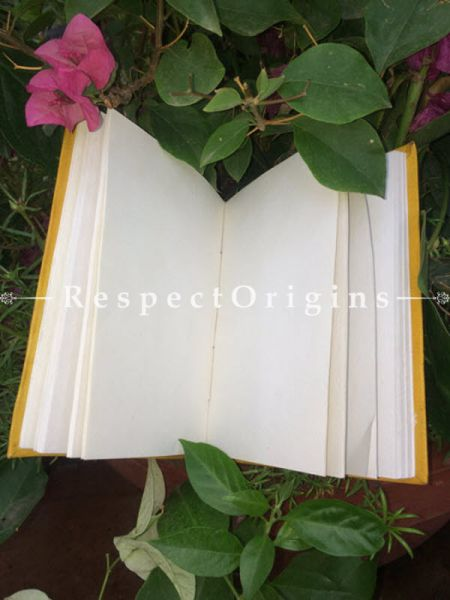 Buy Yellow Hand Punched Floral Rajasthani Leather Diary At RespectOrigins.com