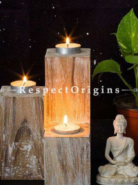 Buy Mesa Wooden Candle Holder At RespectOrigins.com