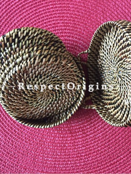 Buy Cane Coasters; Round, Hand Woven Set of 6 Coastersin a beautiful and handy box.|RespectOrigins