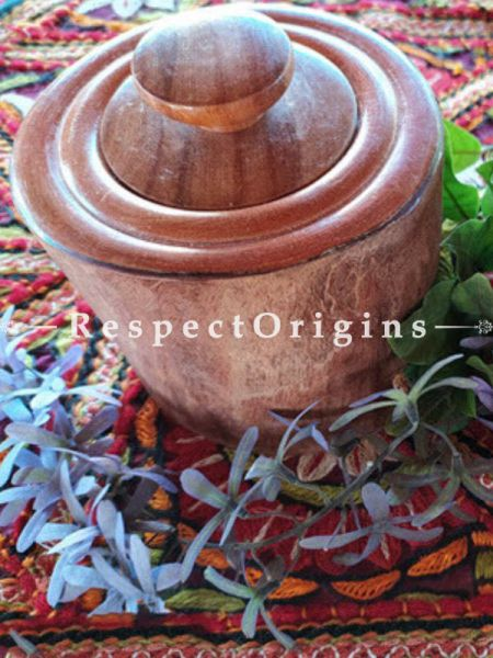 Buy Canisters Set of 2; Hand Crafted One of A kind Wooden Canister At RespectOrigins.com