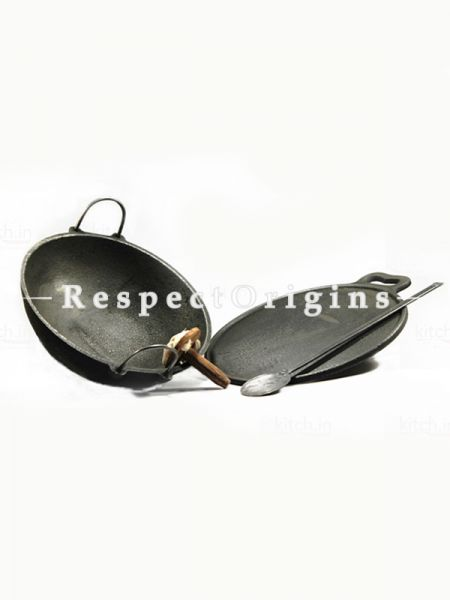 Toxic-Free & Hand-Seasoned Cast Iron Basic Cookware Starter Set Of 2-Pr-50222-70438