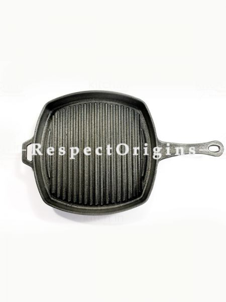 Toxic-Free & Hand-Seasoned Using Traditional Methods;Cast Iron Grill Pan; 8 Inches-Pr-50222-70434