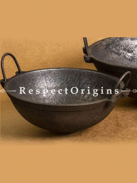 Buy Cast Iron Frying Pans - Kadhai Set of 3; Handcrafted Traditional Cookware; Toxic-free and Hand Seasoned; Small, Medium and Large At RespectOrigins.com