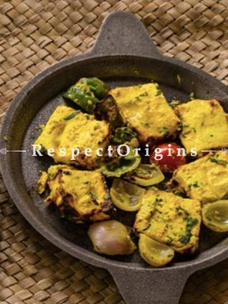 Buy Single Round Cast Iron Pan Raised Edge; Dia - 9.5 in; Handcrafted Traditional Cookware; Toxic-free and Hand Seasoned At RespectOrigins.com