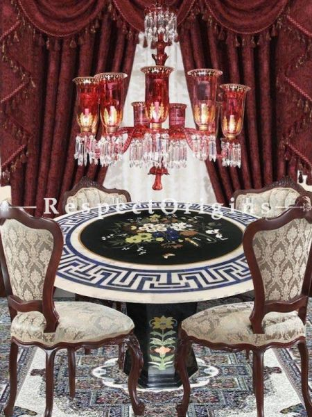 Buy Garnet and Gold Handcrafted and Hand-painted Gorgeous 12-Arm Chandelier Light At RespectOriigns.com