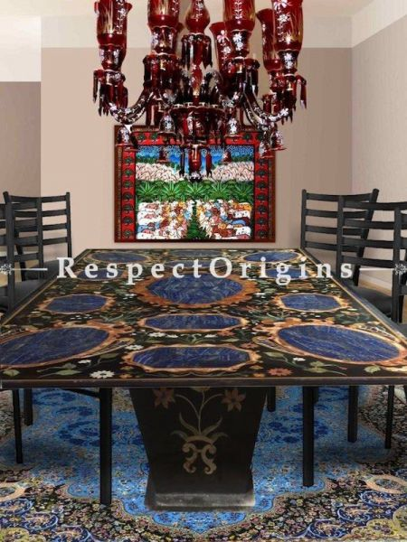 Buy Striking Deep Red Glass Chandelier with 8 Arms. Hand-blown Glass and hand-painted in Gold and White florals. At RespectOriigns.com