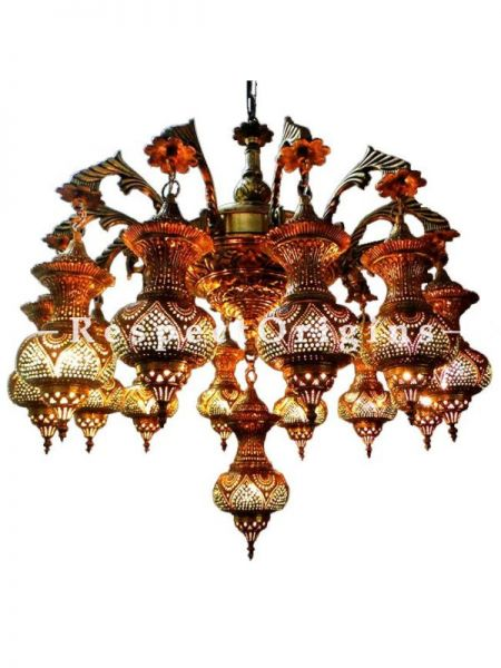 Buy Exotic Fabulous Large Brass Chandelier Lamps At RespectOriigns.com