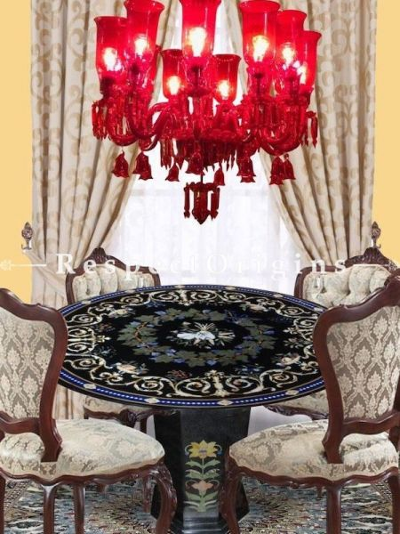 Buy Romantic Cherry Red 12 Armed Handcrafted Lamp Chandelier. At RespectOriigns.com