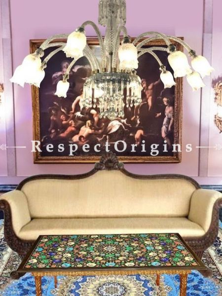 Buy Dazzling Dozen Lamps Handcrafted Glorious White Glass Chandelier. At RespectOriigns.com
