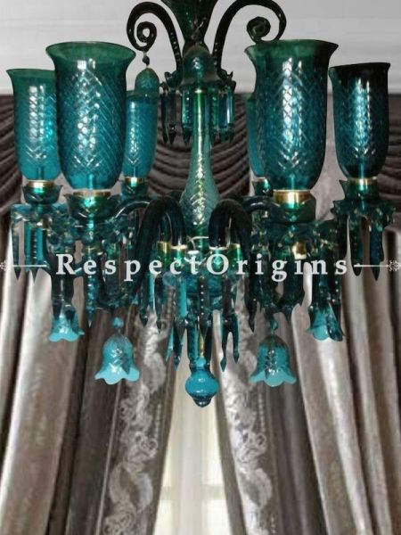 Buy Sea Green Handcrafted Classic Lamp Chandelier with 6-Arms. At RespectOriigns.com