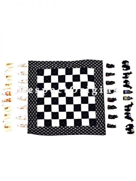 Buy Chess Handmade With Patchwork On Naturally Dyed Cotton at RespectOrigins.com