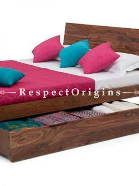 Buy Christoph Storage Solid Wood Bed with Dual Drawers. At RespectOrigins.com