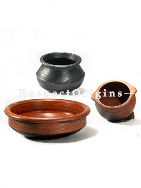Toxic-Free & Hand-Seasoned Clay Basic Starter Set Of 3-Pr-50222-70443