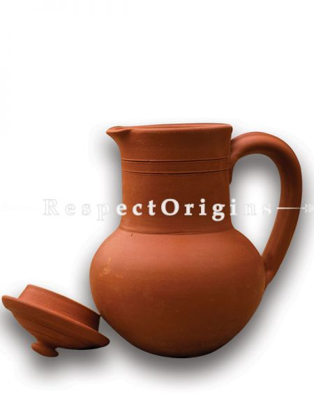 Toxic-Free & Hand-Seasoned Clay Jug; 1.5 L-Pr-50222-70447