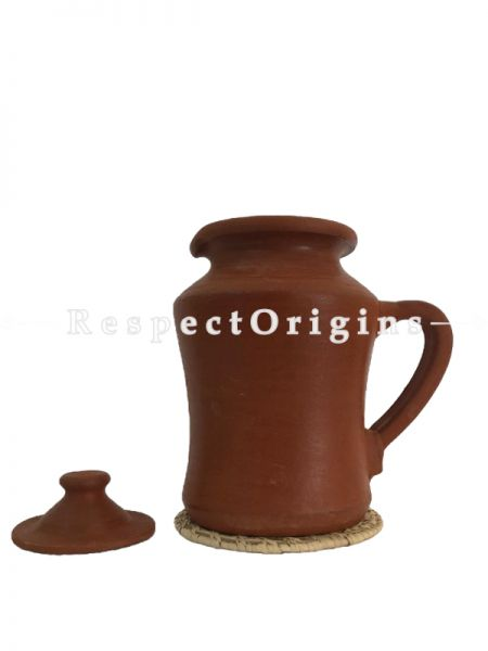 Toxic-Free & Hand-Seasoned Clay Jug Large; 1.8 L-Pr-50222-70445