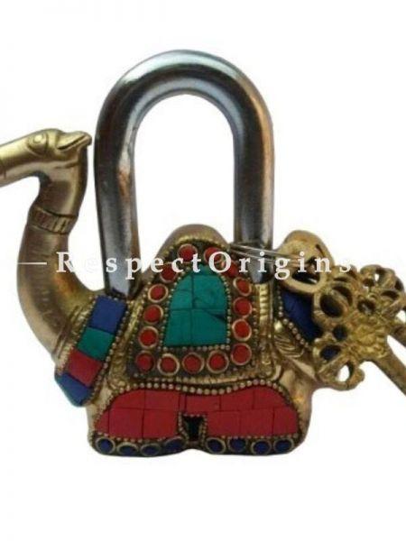 Buy Colored Camel Vintage Design Working Functional Lock with Keys At RespectOrigins.com