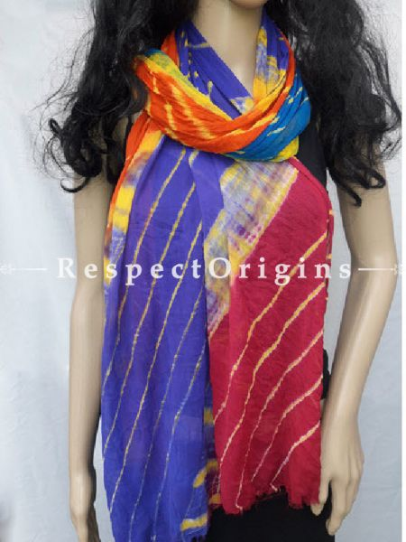 Colorful Chiffon Leheriya Dupatta; RespectOrigins.com