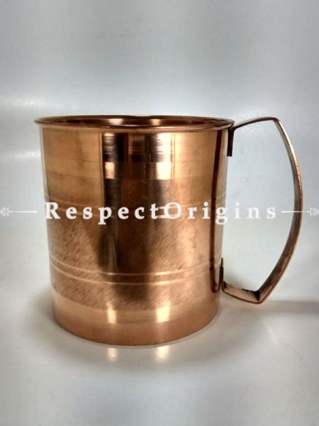 Set of 2 Copper Mug Inside Nickel, Hammered Design, Beer Moscow Mule Mug Cup, Barware; RespectOrigins.com