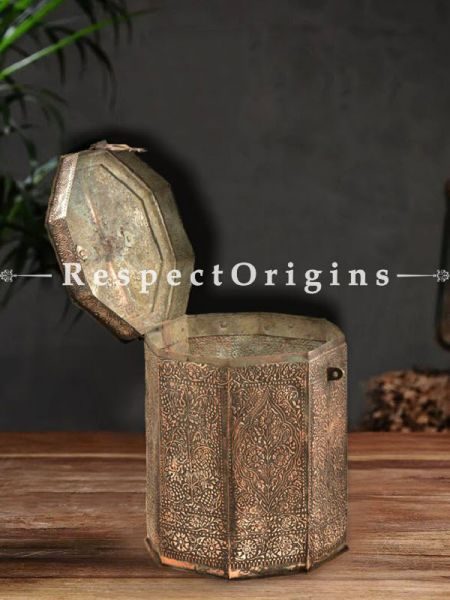 Buy Unique Copper Canister Box With latch and Handle At RespectOrigins.com