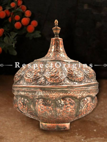 Buy Copper Candy Bowl with Dome Lid At RespectOrigins.com