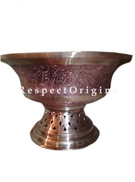 Buy Round Copper Serving Dish, Fruits or Snack Bowl; Handcrafted Copper At RespectOrigins.com