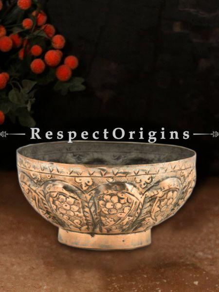 Buy Copper Handmade Decorative Flower Bowl At RespectOrigins.com