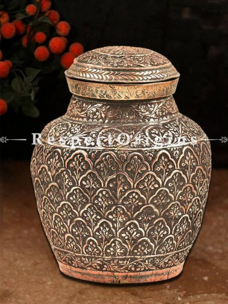 Buy Copper Handmade Spice, Rice or Cookie Jar At RespectOrigins.com