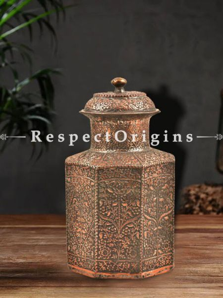 Buy Pure Copper Persian Style Urn Cookie Jar With Lid At RespectOrigins.com