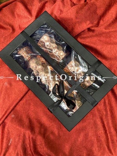 Ayurveda Pure Copper Gift Box Set; Bottle w/ 2 Glasses; RespectOrigins.com