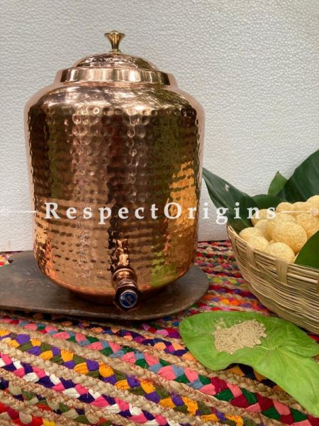 Hammered Copper Water Dispenser; RespectOrigins.com