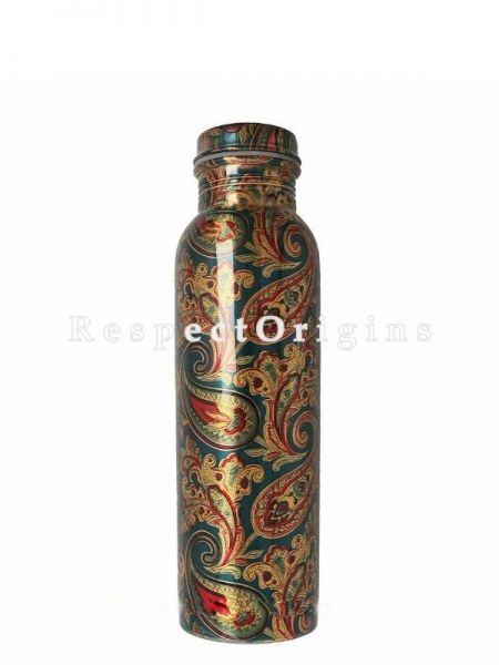 Handmade Pure Copper Water Bottle, 1000ml; RespectOrigins.com