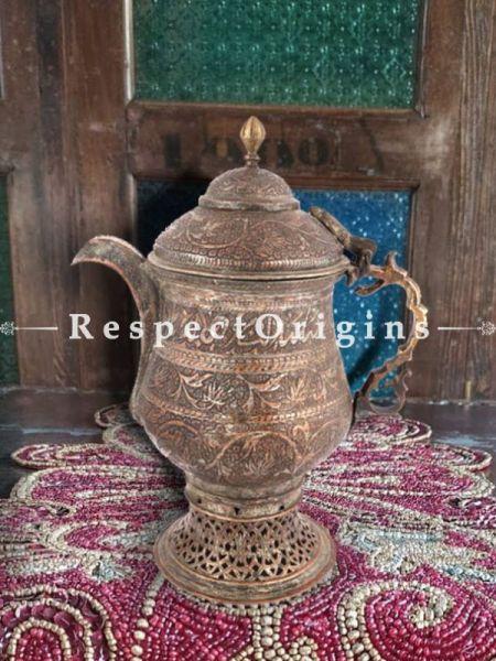 Buy Handcarved Black & Silver Polished Copper Samovaar At RespectOrigins.com