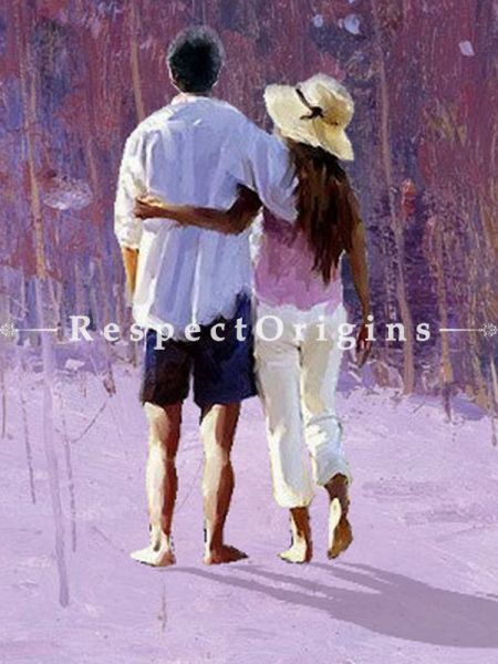 Adorable Painting of A Couple Made of Oil on Canvas  |Buy Adorable Painting of A Couple Made of Oil on Canvas   Online|RespectOrigins