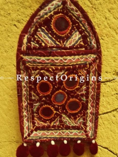 Stunning Kutchi Embroidery Letter-Holder With 1 Pocket; Wall Hanging; H10xW6 Inches; RespectOrigins.com