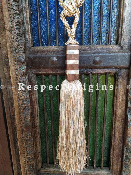 Brown Silken Curtain Tie-back Pair; 25 x 2 Inches-Mu-50171-70377
