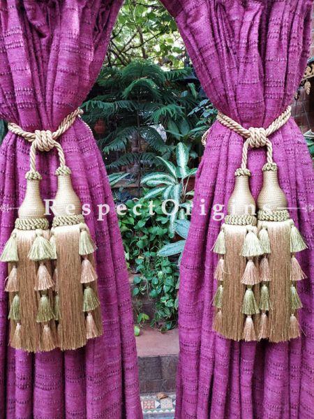 Buy Beige Silken Curtain Tie-Back Pair; 25 X 3 Inches  at RespectOrigins.com