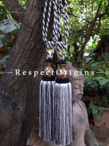 Buy Steel Gray Silken Curtain Tie-Back Pair; 25 X 3 Inches  at RespectOrigins.com