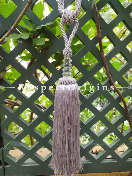 Beige Silken Curtain Tie-back Pair; 25 x 2 Inches-Mu-50171-70373