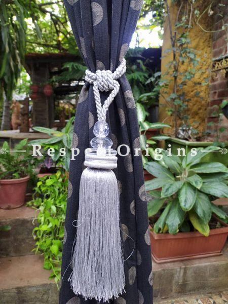 Buy Silken Blue Curtain Tie-Back Pair; 30 X 2 Inches  at RespectOrigins.com