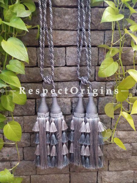 Buy Brown Silken Curtain Tie-Back Pair; 25 X 2 Inches  at RespectOrigins.com