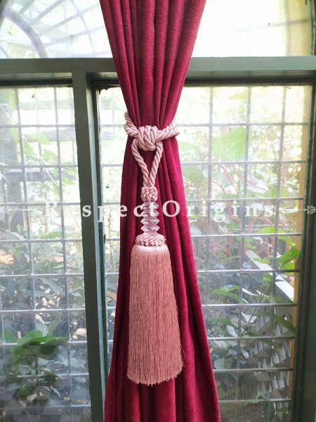 Buy Pair Of Light Red Silken Curtain Tie-Back ; 25 X 2 Inches  at RespectOrigins.com