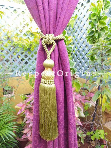 Buy Light Green Silken Curtain Tie-Back Pair; 27 X 2 Inches  at RespectOrigins.com
