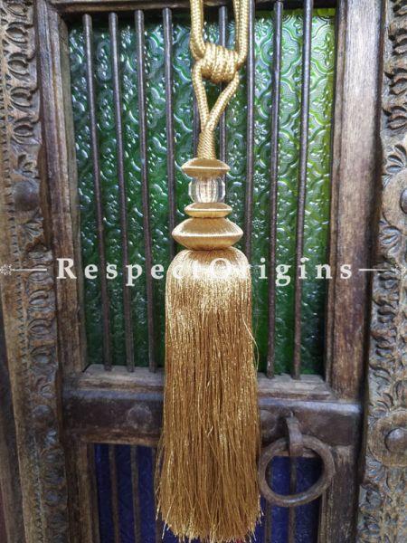 Buy Golden Yellow Silken Curtain Tie-Back Pair; 25 X 2 Inches  at RespectOrigins.com