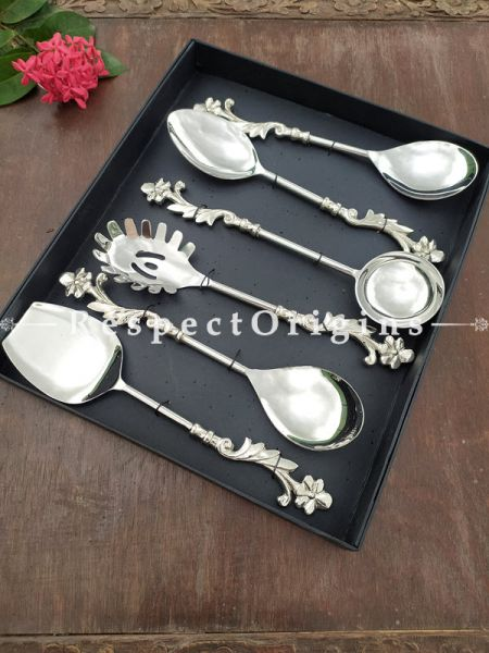 Stainless Steel Spoon Latest Design Designer Serving Spoon Set of 5