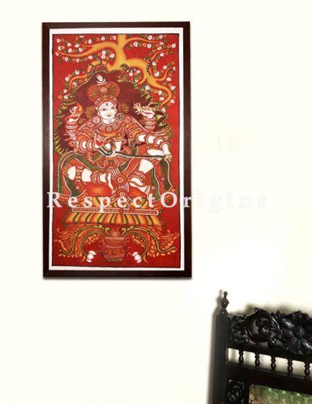 Dakshinamurthy - Kerala Mural Art- Lord Shiva- Painting 44x23 Vertical Canvas Paintings